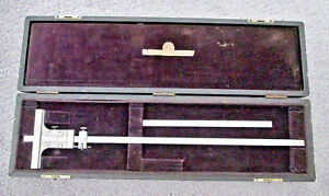 Starrett No 448 Vernier Depth Gauge With 12 5 Blades In Carrying Case