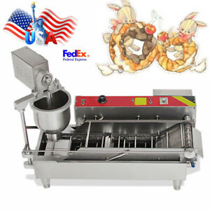 304 Stainless Automatic Doughnut Donut Ball Maker Machine Fryer 3 Size Outlet