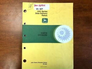 John Deere 350 Series Side delivery Rake Parts Catalog 142