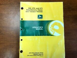 John Deere 662 672 And 673 Side delivery Rake Operator s Manual 144