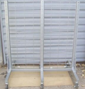 Store Fixture Supplies Rolling Slat Grid Or Shelving Display Unit 57 T X 50 L