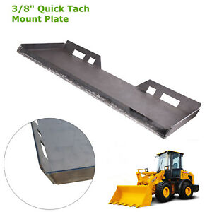 1 New 3 8 Quick Tach Attachment Mount Plate For Kubota Trailer Hitch Skid Steer