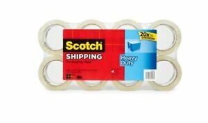 Scotch Heavy Duty Packaging Tape 8 P Rolls Clear Shipping Sealing Moving Mailing