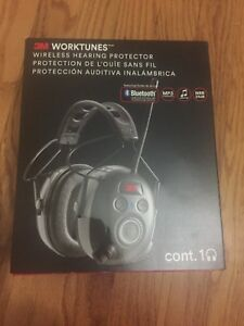 Worktunes Wireless Hearing Protector W Radio Bluetooth Headset Audio Ear Safety