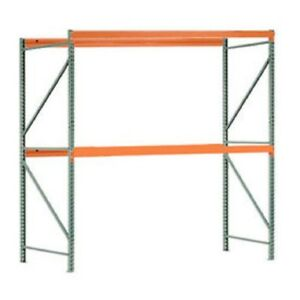 New Interlake Mecalux Pallet Rack Tear Drop Starter 120 w X 48 d X 120 h