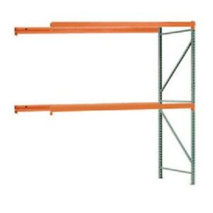 New Interlake Mecalux Pallet Rack Tear Drop Add on 108 w X 48 d X 96 h