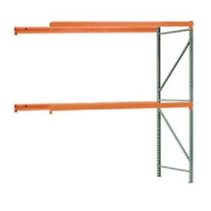 New Interlake Mecalux Pallet Rack Tear Drop Add on 108 w X 42 d X 120 h