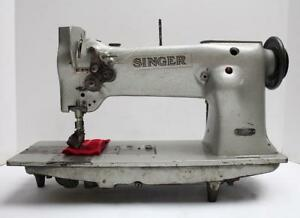 Singer 112w140 Roller Foot 2 needle 1 8 Gauge Industrial Sewing Machine Head