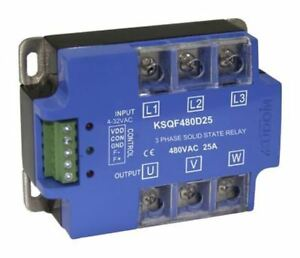 Kudom 25 A Solid State Relay 3 Phase Zero Crossing Panel Mount Scr 530 V Ac M