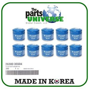 Genuine Oem Hyundai Kia Oil Filter 26300 35504 With Washer 10pack