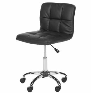 Modern Faux Leather Cushion Home Or Office Desk Chair black