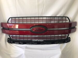 2018 Ford F 150 Ruby Red Metallic Genuine Ford Grille With Custom Emblems