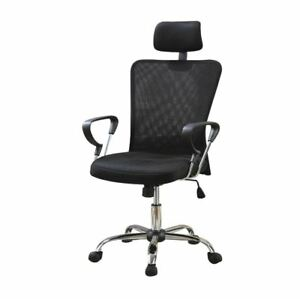 High Back Executive Mesh Office Computer Chair With Headrest black