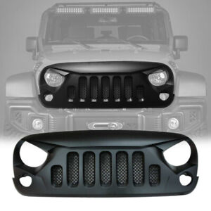 Front Grill Gladiator Grille With Mesh Insert Jeep Jk 2007 2018 Matte Black