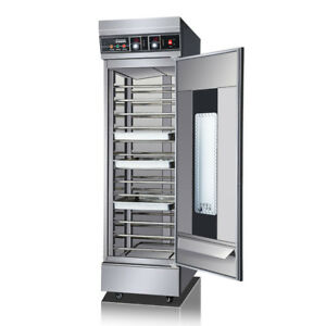 110v 2 6kw Stainless Steel Dough Heater Proofer Cabinet Commercial Bread Pastry