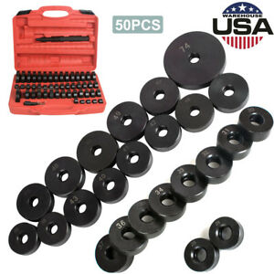 50pcs Bearing Seal Driver Tool Kit Custom Bushing Bearing Hydraulic Press Usa
