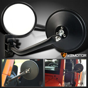 Quick Release Relocation Side Mirrors Pair For Jeep Wrangler Tj Jk 97 18