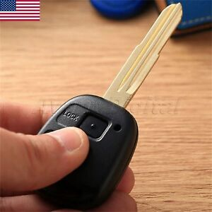 2 Btn Remote Key Shell Case For Toyota Prado Camry Corolla Rav 4 Avensis Echo