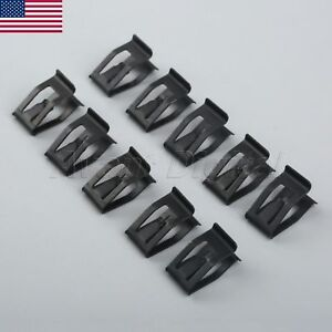 10pcs Universal Car Auto Front Console Clips Dashboard Trim Metal Retainers