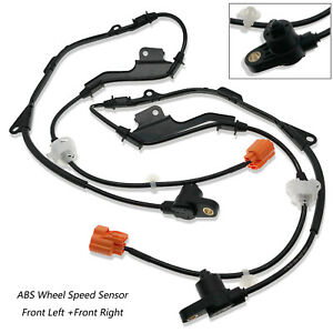 2 X Abs Wheel Speed Sensor Front Left Right For 1998 02 Honda Accord 2 3l 3 0l