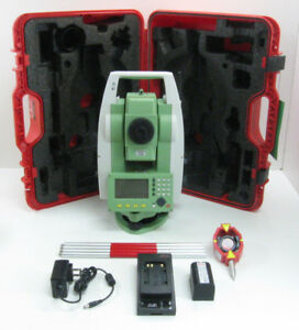 Leica Ts06 Plus R1000 1 Prismless Total Station For Surveying 1 Month Warranty