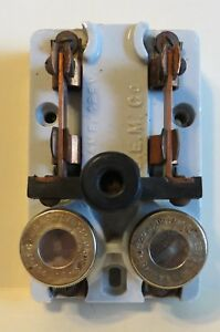 Antique Porcelain 2 pole Knife Switch With 30a Fuses