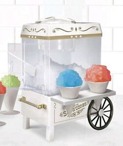 Snow Cone Maker Vintage Ice Machine Retro Nostalgia Carnival