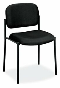 Hon Scatter Guest Chair Leather Stacking Chair Office Furniture Black Vl606