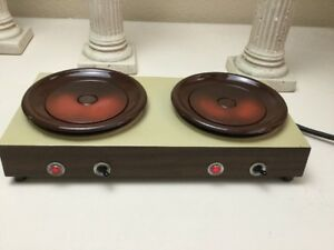 Vintage Bloomfield Commercial Double Electric Coffee Warmer Hot Plate Works