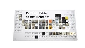 Collection Of Elements Periodic Table With Display Case Density Cubes 5 15 30 55