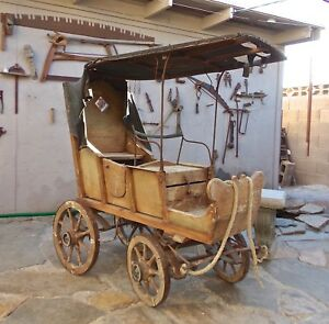 Antique Horse Drawn Buggy Childs Size Wood Carriage Local Pick Up