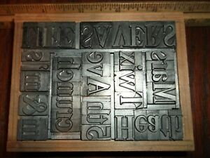 M m s Twix 5th Ave Candy Chocolate 48pt Caslon Type Letterpress Printing Vintage