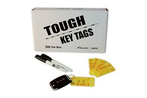 Car Dealer Key Tags Tough Plastic Rigidene Style 500 Survivor Ez400 Tags