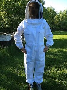 Full Bee Keeping Suit Heavy Duty New Size Med Free Gloves Free Shipping