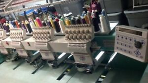 Tajima Commercial 4 Head Embroidery Machine Tmfxii c1204 T shirt Maker Fabric