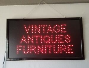 Led Sign Red Vintage Antiques Furniture 23 5 X 13 X 75 In