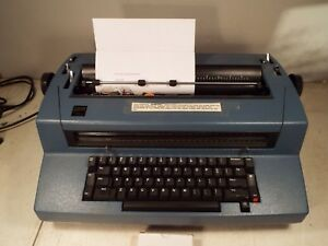 Ibm Correcting Selectric Iii Electric Typewriter Blue Runs Smooth