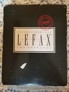 Lefax Maple Brown Leather Personal Organizer Filofax Planner Vintage Nib England