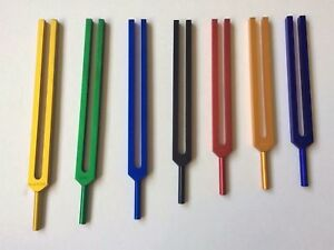 Chakra Tuning Fork Color Therapy Energy Healing W Mallet Velvet