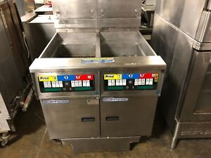 2013 Pitco Solstice Supreme Ssh55 Double Natural Gas Fryer W Filtration