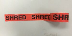 20 Rolls Uline Red Tape 2 Inch X 55 Yards Imprinted W The Word shred 3 Core