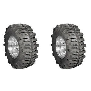 2x New Lt37x13 17 130q Mud Terrain Tyre Super Swamper 4 Ply Tires 330 75 17