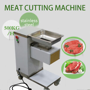 Moveable Commercial Meat Slicer Meat Cutting Machine Cutter 500kg hourrestaurant