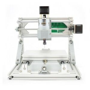 3 Axis Diy Cnc Mill Router Kit Wood Carving Engraving Machine er11 5500mw Laser