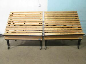 Lot Of 2 cms Commercial Mobile Wooden Bakery produce Merchandiser Display Rack