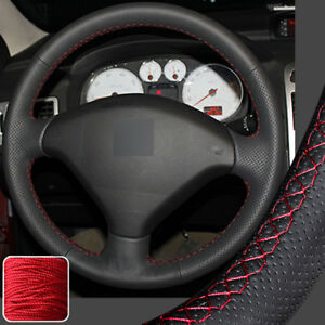 Hand Sew Steering Wheel Cover Stitch On Wrap For Peugeot 3008 2013 2014 2015 16