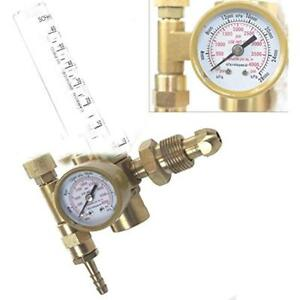 Argon Co2 Mig Tig Flow Meter Welding Regulator Gauge Gas Welder Cga580 New