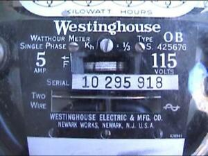 1920s Vintage Westinghouse Ob Electric Meter 5 Amp 115 Volts Working Condition