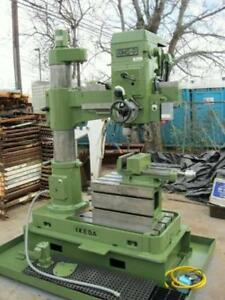1978 Ikeda Rms 9 3 Radial Arm Drill 2 2kw Heavy Duty Vise