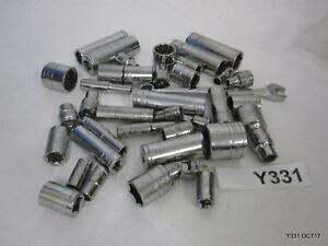 Lot Of 40 Husky Sockets Metric sae 3 8 Dr 1 4 Dr 17mm 14mm 13mm 11mm 10mm